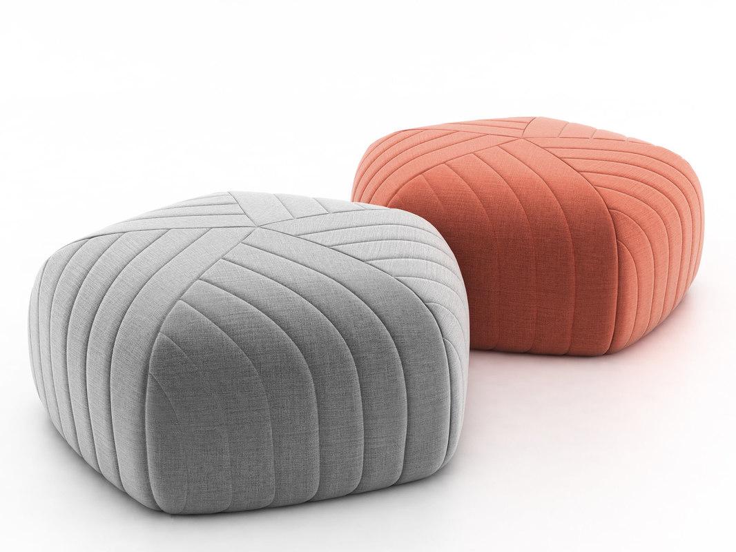 3D model pouf muuto
