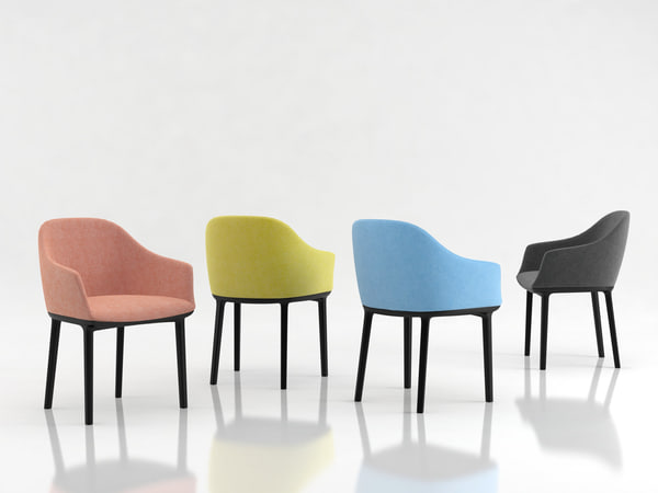 softshell chair vitra 3D model