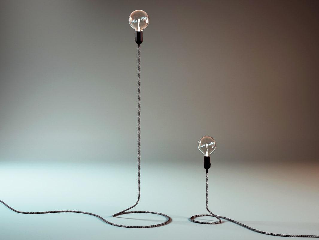 3D cord lamp model