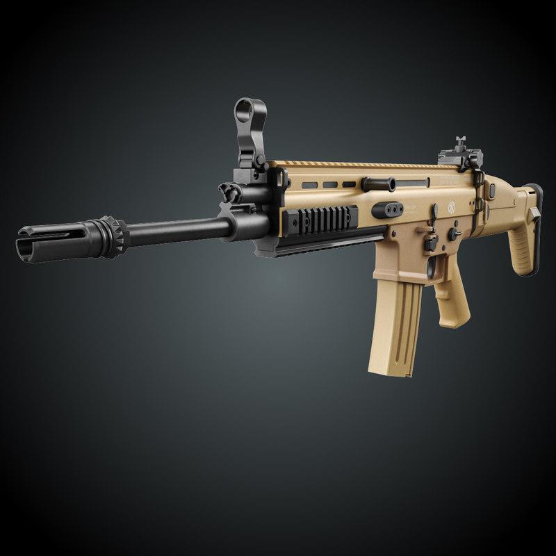 scar rifle 3D model