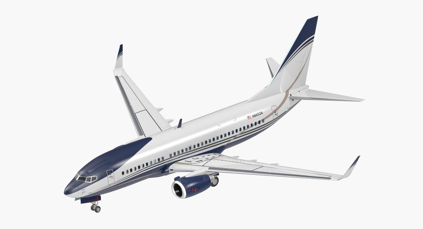 3D boeing 737-700 interior generic