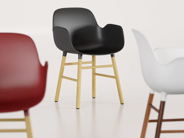 form armchair 3D