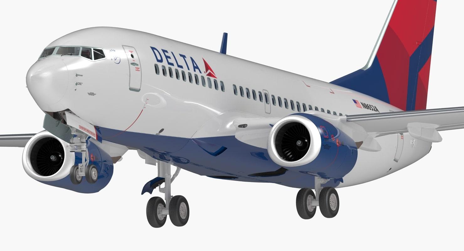 boeing 737-700 interior delta 3D model