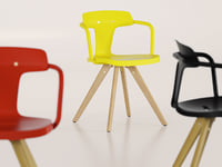 3D t14 wood chair model