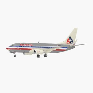 3D model boeing 737-700 interior american airlines