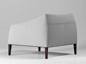 carmel armchair 3D model