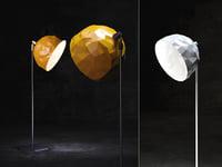 3D rock standing lamp