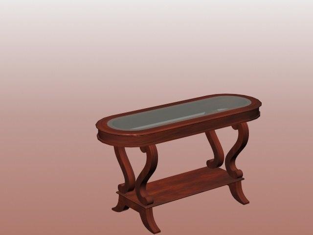 3D mahogany table