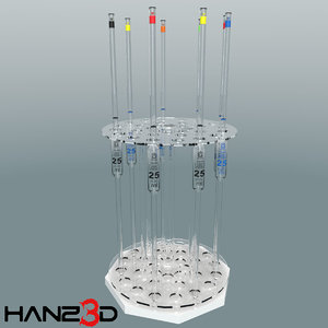3D model low-poly pipette