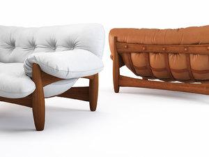 mole sofa 2 seat 3D model