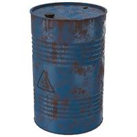 3D model barrel 1