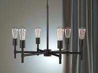 industrial chandelier 3D