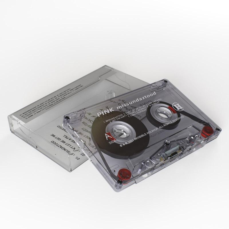 3D cassette tape box model