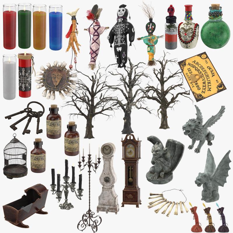 3D creepy voodoo model