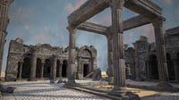 3D dilapidated ruins holy