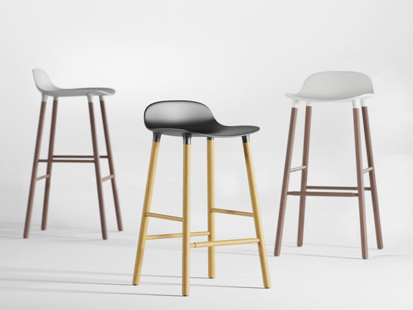 3D model form barstool