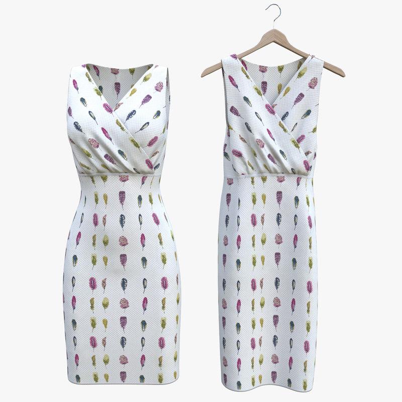 3D classic dress