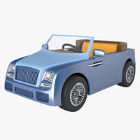 photoreal kids car 3D model