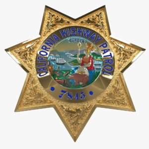 california star police badge 3D model