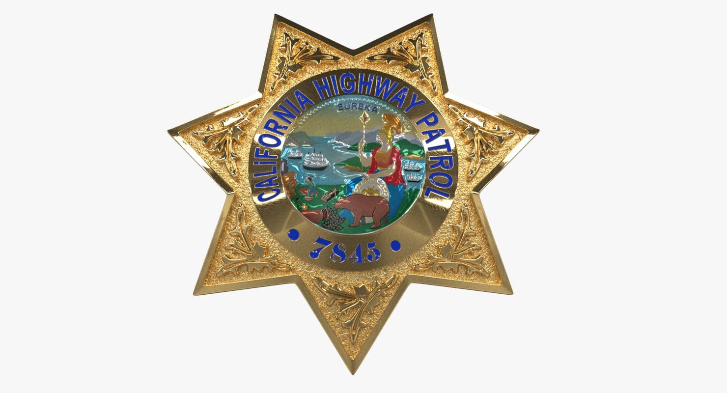 california star police badge 3D model