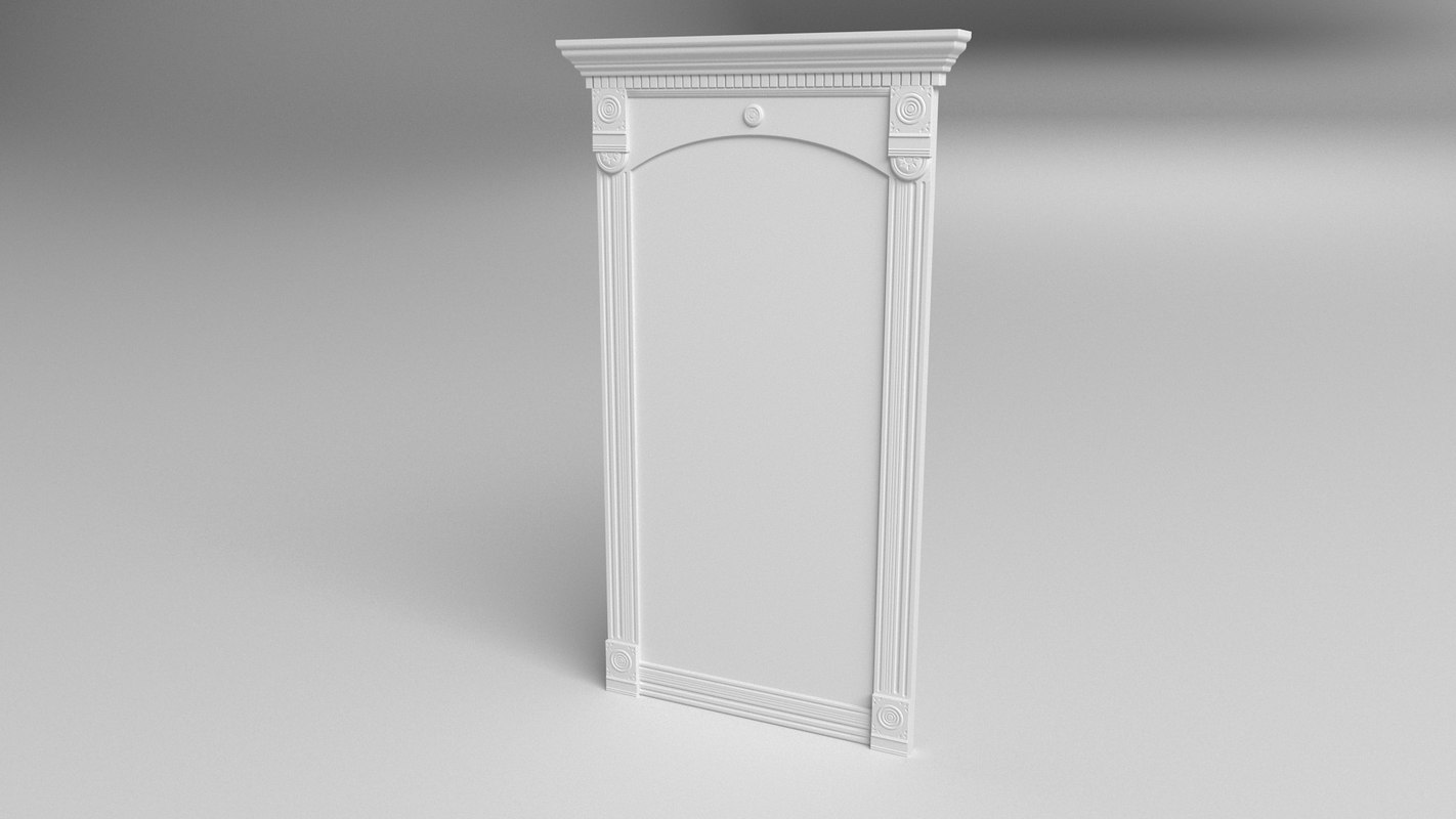 3D american gothic pier mirror model