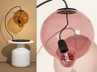 3D meltdown table lamp