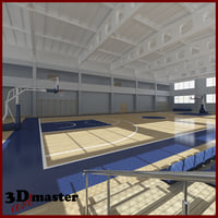 basketball arena interior 3D model