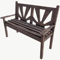 old bench 3D model