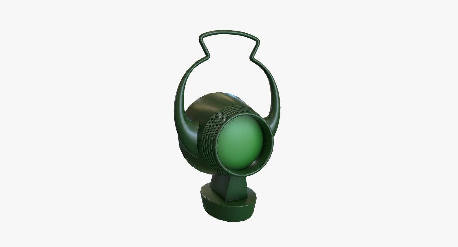 3D realistic green lantern model