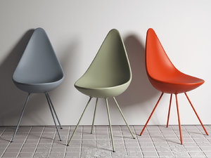 3D model drop chair