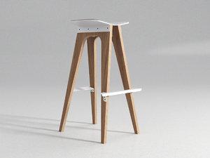 c5 bar stool 3D model