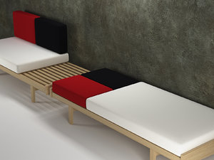 daybed 3D model