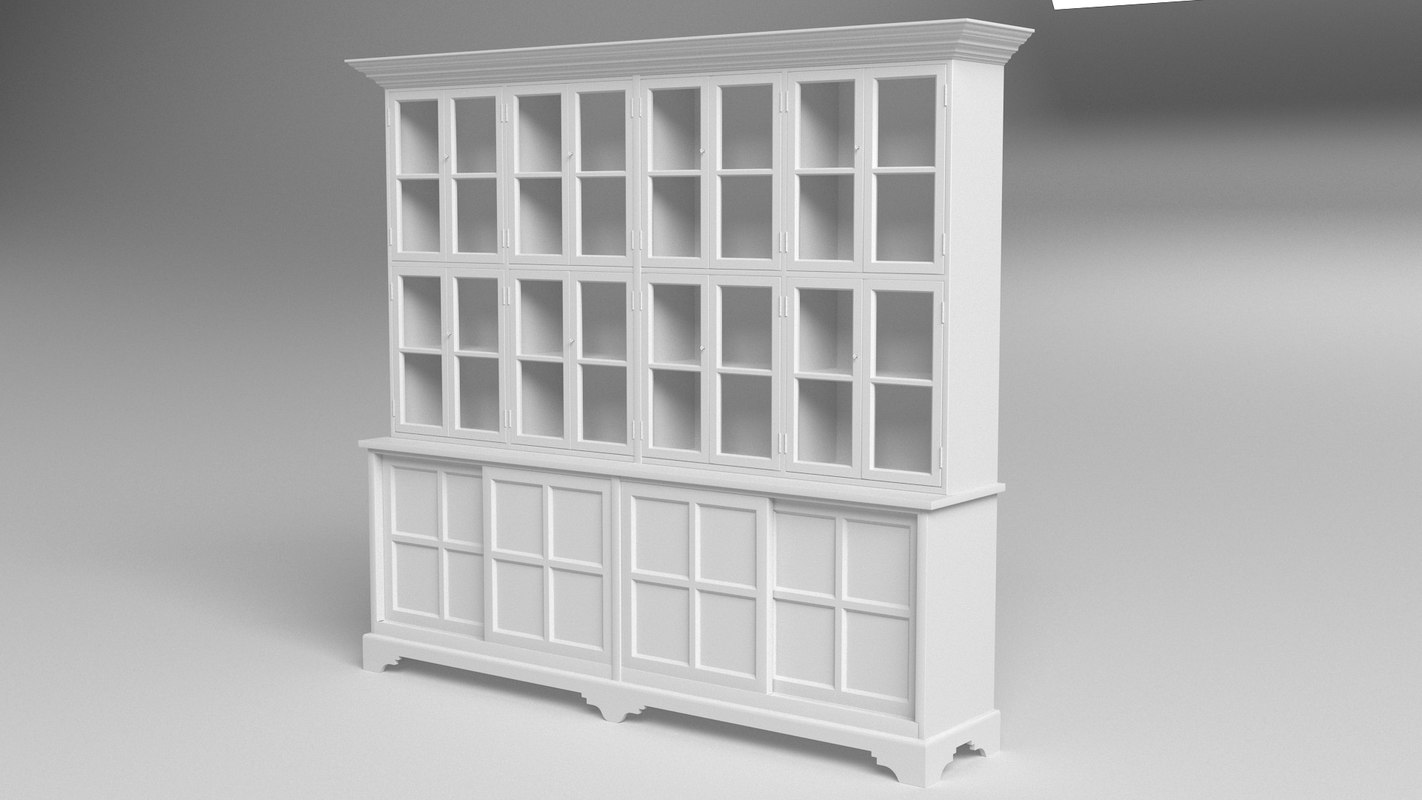 3D model barristers bookcase