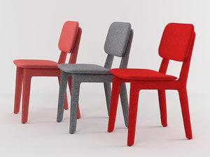 3D felt chair