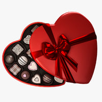 candy heart box 3D