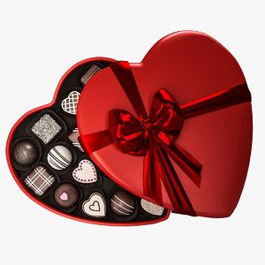 candy heart box 3D