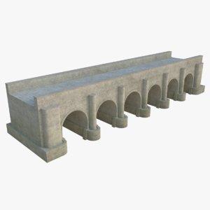 3D stone bridge 5