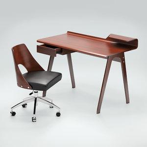 hailey chair seat cornell 3D model
