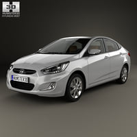 hyundai accent rb 3D