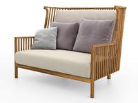 3D model elizabeth sofa