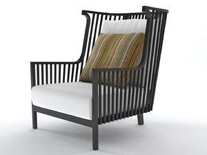 3D elizabeth armchair