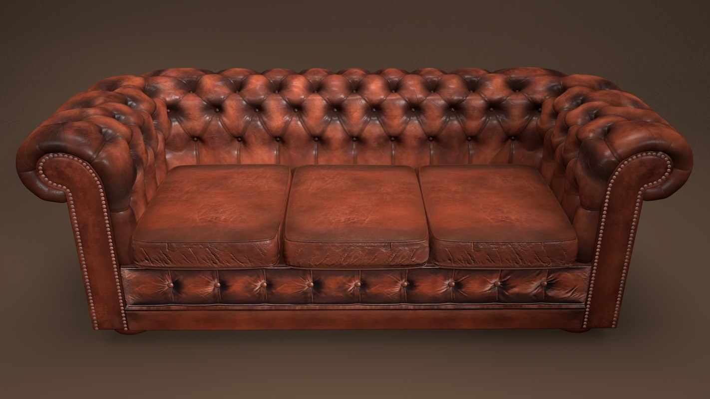 3D chesterfield couch model