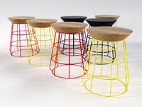 sidekick stool 3D model