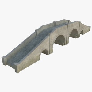 3D stone bridge model