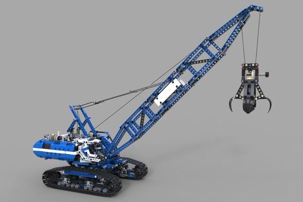 lego crawler crane model