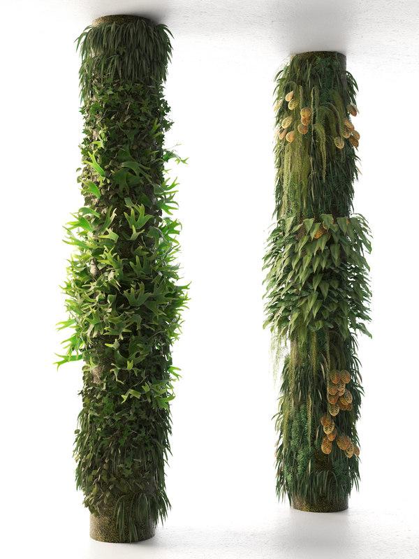 columns garden design 3D