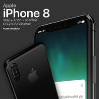 3D model apple iphone 8