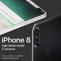 3D model apple iphone 8