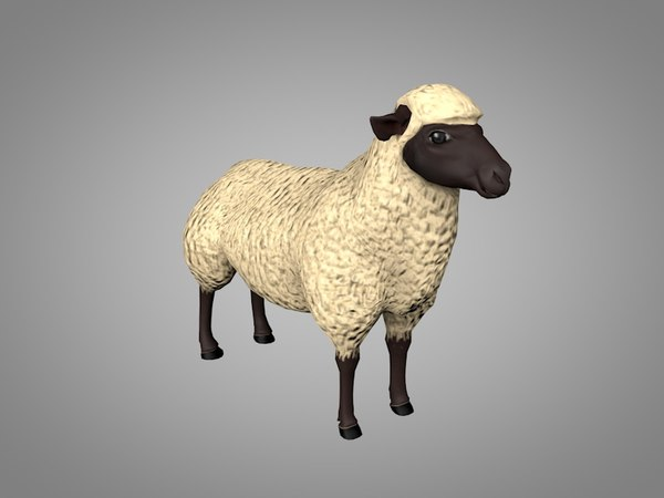 3D ram sheep model
