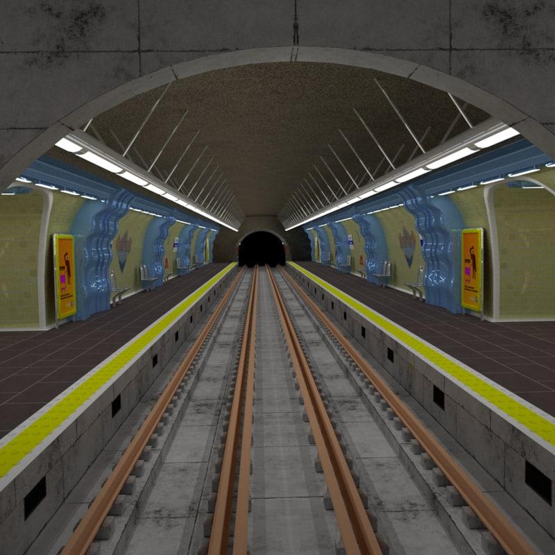 3D metro station paris model